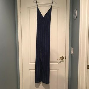 Navy/Black/White Striped Jumpsuit NWT